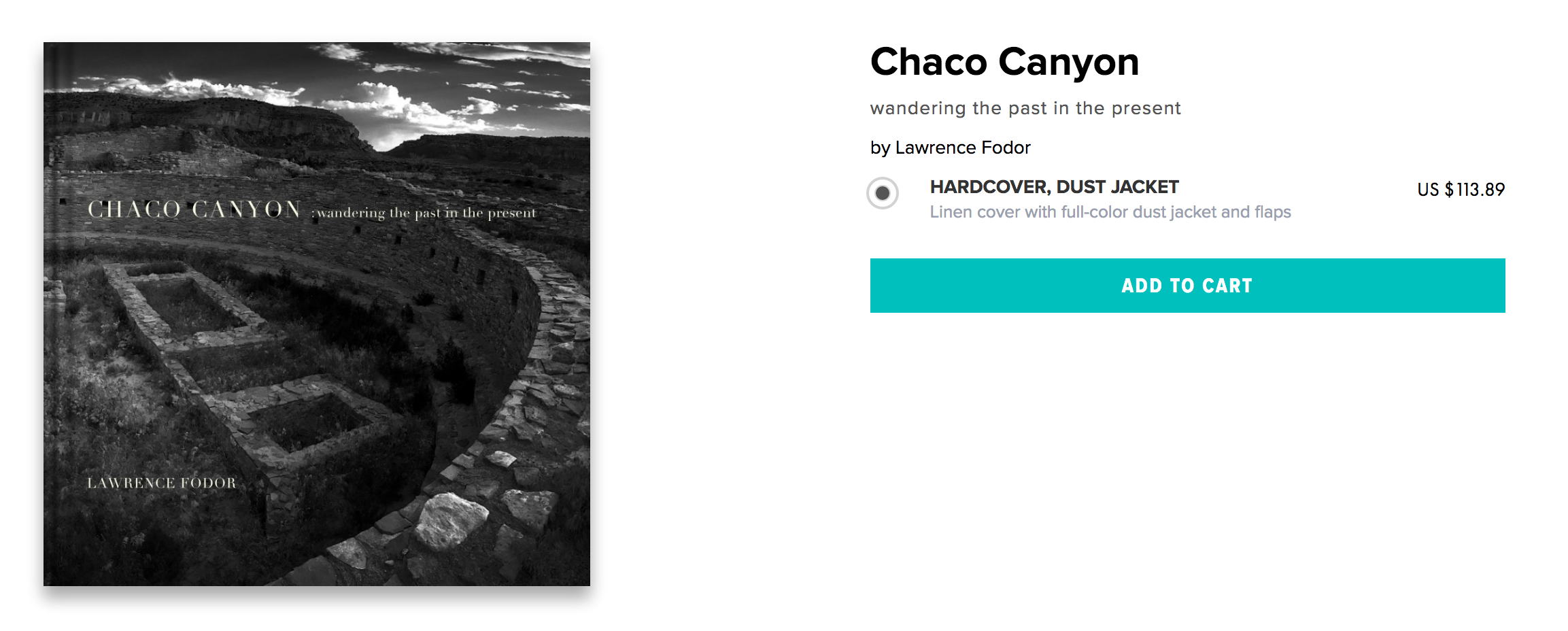 """Chaco Canyon: wandering the past in the present - photographs and an essay by Lawrence Fodor.  Lawrence Fodor recounts his camping, hiking and creative journey to Chaco Culture National Historical Park in New Mexico with five other artists in May 2015. A descriptive and illustrated narrative that includes entries drawn from his journal, photographs he took and watercolors he painted on location in Chaco Canyon and the surrounding mesas. There is magic at work in Chaco Canyon. It is enigmatic, powerful and sustained.  """"With every visit I make to Chaco Canyon a unique exchange occurs while I am there – a discourse – with the land, the collective memories unearthed in the dust and dirt as I wander, the antiquity, the moment, the monument – and the people that accompany me. This trip was no exception."""""""