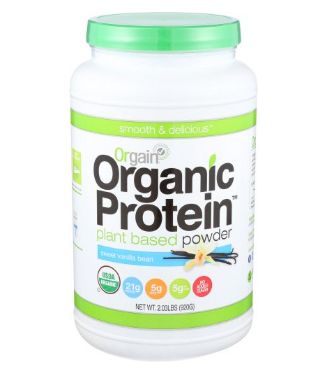 Orgain Protein Powder  is Dairy free, with 21 grams of plant based protein and it tastes amazing. Also Costco and Amazon carry it so it's easy to get. I'm a fan of the vanilla, but the chocolate is delicious too!