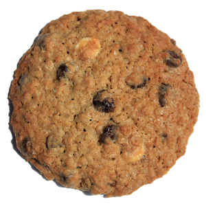 So many people requested this cookie we just had to bake it for you! Oatmeal chocolate chip is a dense chewy cookie filled with oats and our special twist: white AND dark chocolate chips. A sprinkle of sea salt on top before it is baked really makes your taste buds pop!
