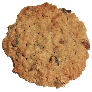 These cookies are like a bowl of oatmeal to go. We use old fashioned rolled oats for a more dense cookie, butter and brown sugar, Madagascar vanilla, a touch of kosher salt, and our special twist - locally produced honey and plump golden raisins.