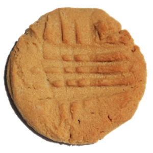 Lots of peanut butter go in to these cookies, and of course they have the essential fork criss crosses on top.