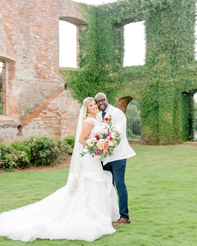 Mr. + Mrs. Murphy 💗 How gorgeous are our newlyweds?! We had the best weekend in Columbus, Georgia celebrating this beautiful couple!! We did a little no rain dance 🌧 and the bride and groom were able to have their perfect ceremony outside in the gardens!! We were SO happy to work with the extremely talented @alexanddylanphoto!! Not only are they the sweetest but their pictures are incredible 😍  A big thank you to the staff at @rivermillevents!! So fun and easy to work with!! 🎉 #edelweissdesignhouse #afewofourfavoritethings #raindropsonroses . . . #EDHfloral #EDHweddings #florist #weddingphotography  #vsco #thatsdarling #engaged #bride #marthastewartweddings #southernbride #southernweddings #alabamaweddings #destinationwedding #theknot #thehappynow #pursuepretty #travel #oncewed #flashesofdelight #beautifulmatters #liveunscripted #florals #bridal #flowers #weddingdecor #wedding