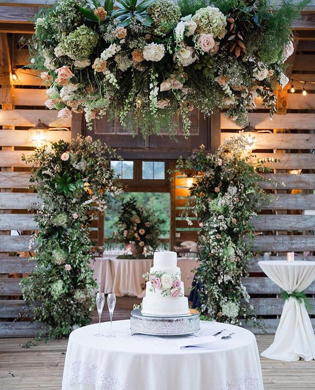 Have we mentioned we love floral installations?? This gorgeous reception had not one but TWO floral arches and a floral chandelier that guests danced the night away under!! 😍🌸 Happy 1 year Anniversary to @ninerrsss and Mikey!!! 💗 We love y'all!! #edelweissdesignhouse #afewofourfavoritethings #floralchandelier . . . #EDHfloral #EDHweddings #florist #weddingphotography  #vsco #thatsdarling #engaged #bride #marthastewartweddings #southernbride #southernweddings #alabamaweddings #destinationwedding #theknot #thehappynow #pursuepretty #travel #oncewed #flashesofdelight #beautifulmatters #liveunscripted #florals #bridal #flowers #weddingdecor #weddings