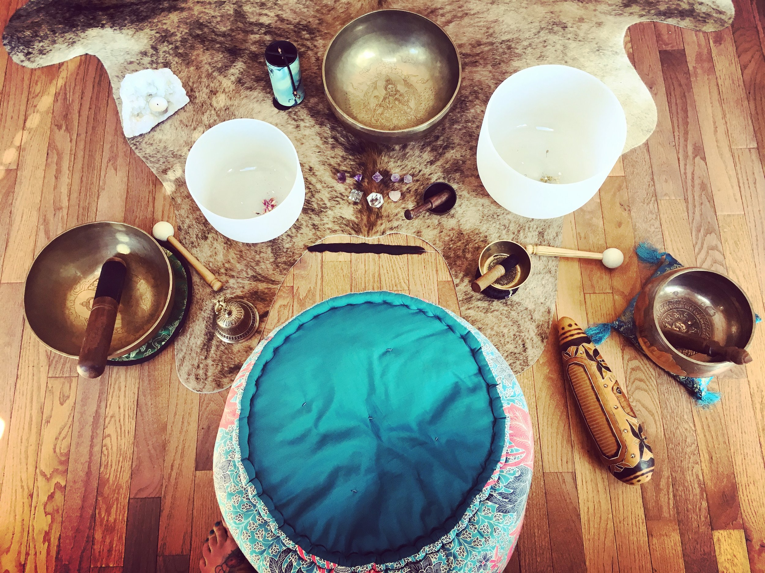 Multi and varied instruments are using during our Sound Healing Circles