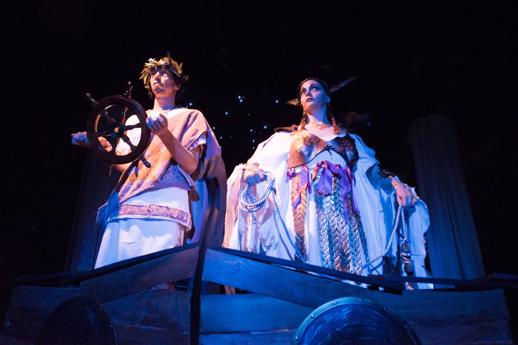 Zach Brown  and Patti Murtha in  Othello: A Khorus Line