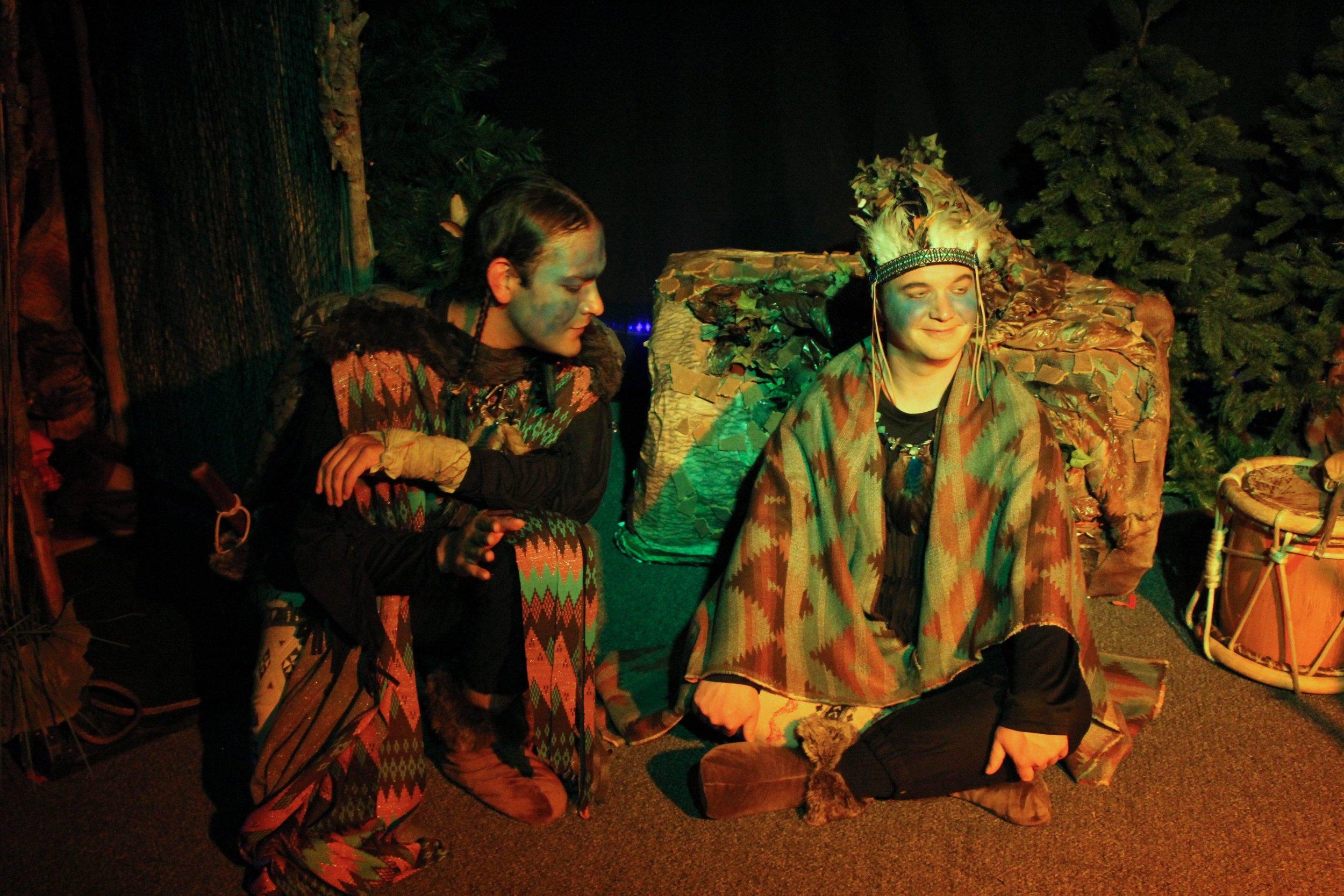 Jaycee Sanchez and  Matthew Davis in  The Stone Coat Woman