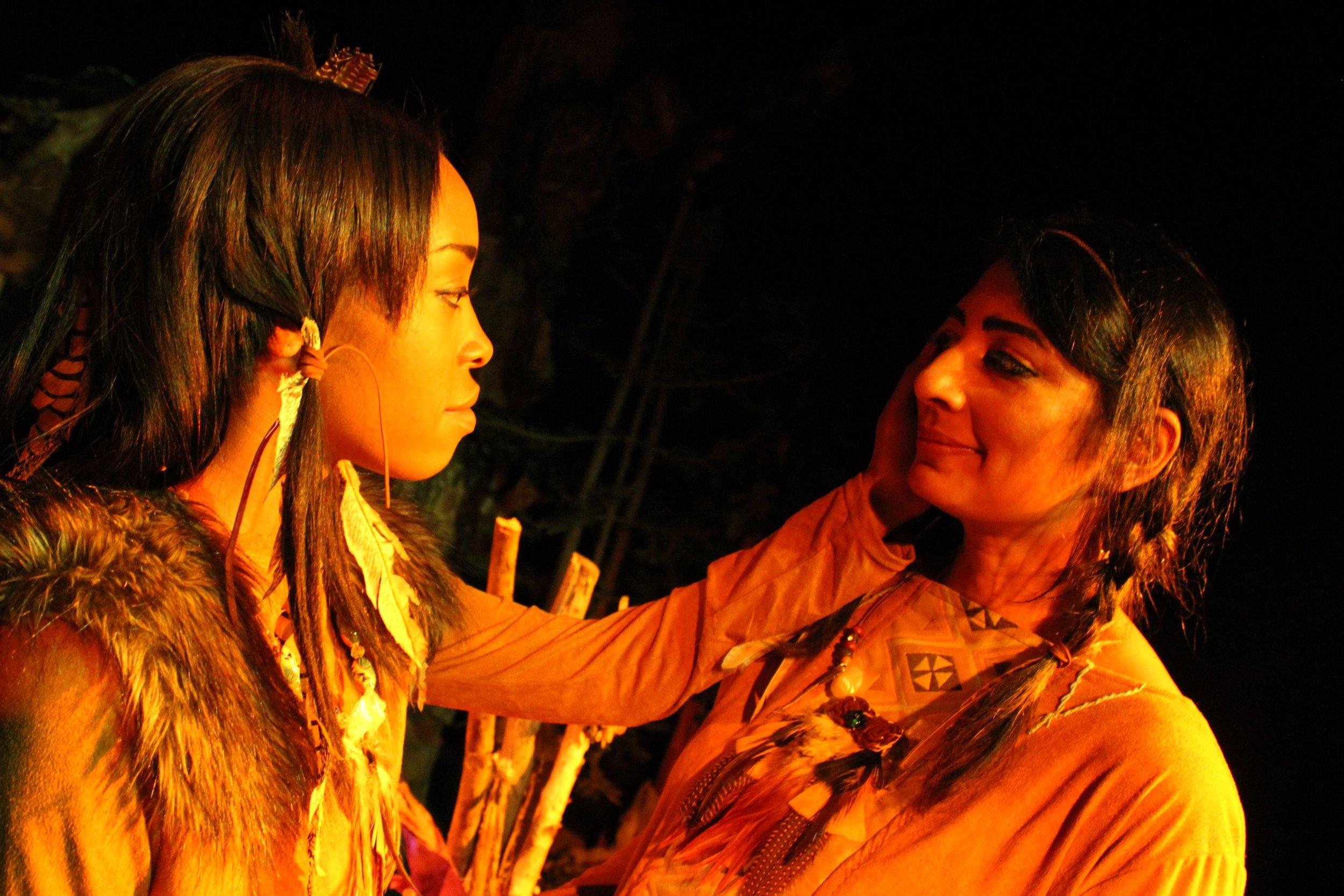 Tresha Farris and  Rekha Ohal in  The Stone Coat Woman
