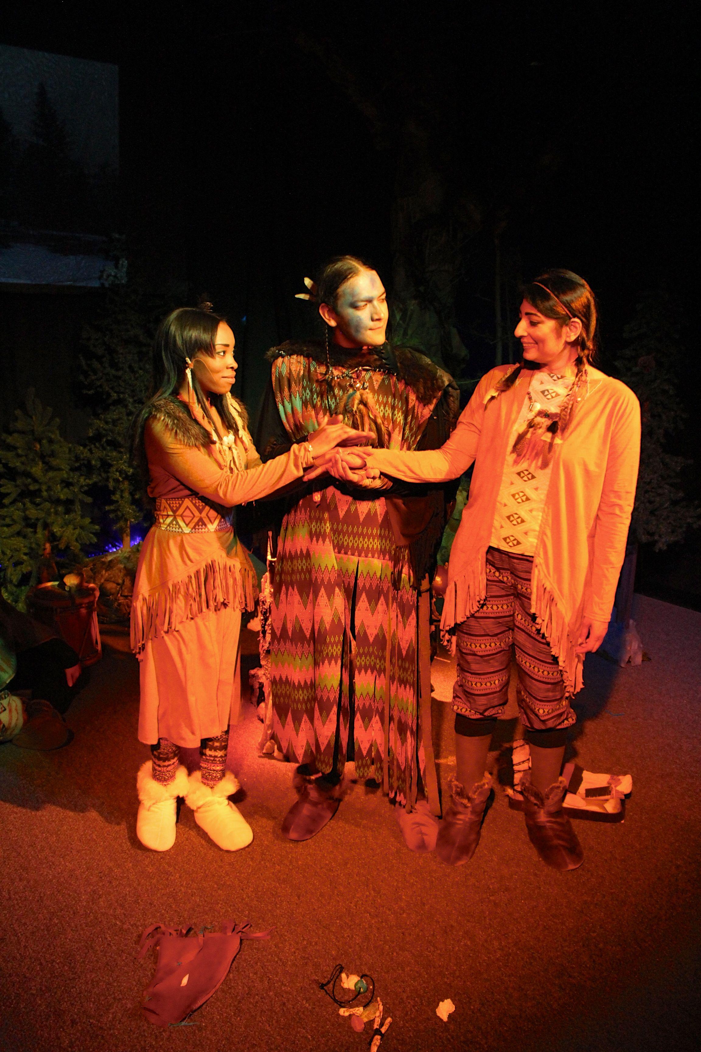Tresha Farris, Jaycee Sanchez, and Rekha Ohal in  The Stone Coat Woman
