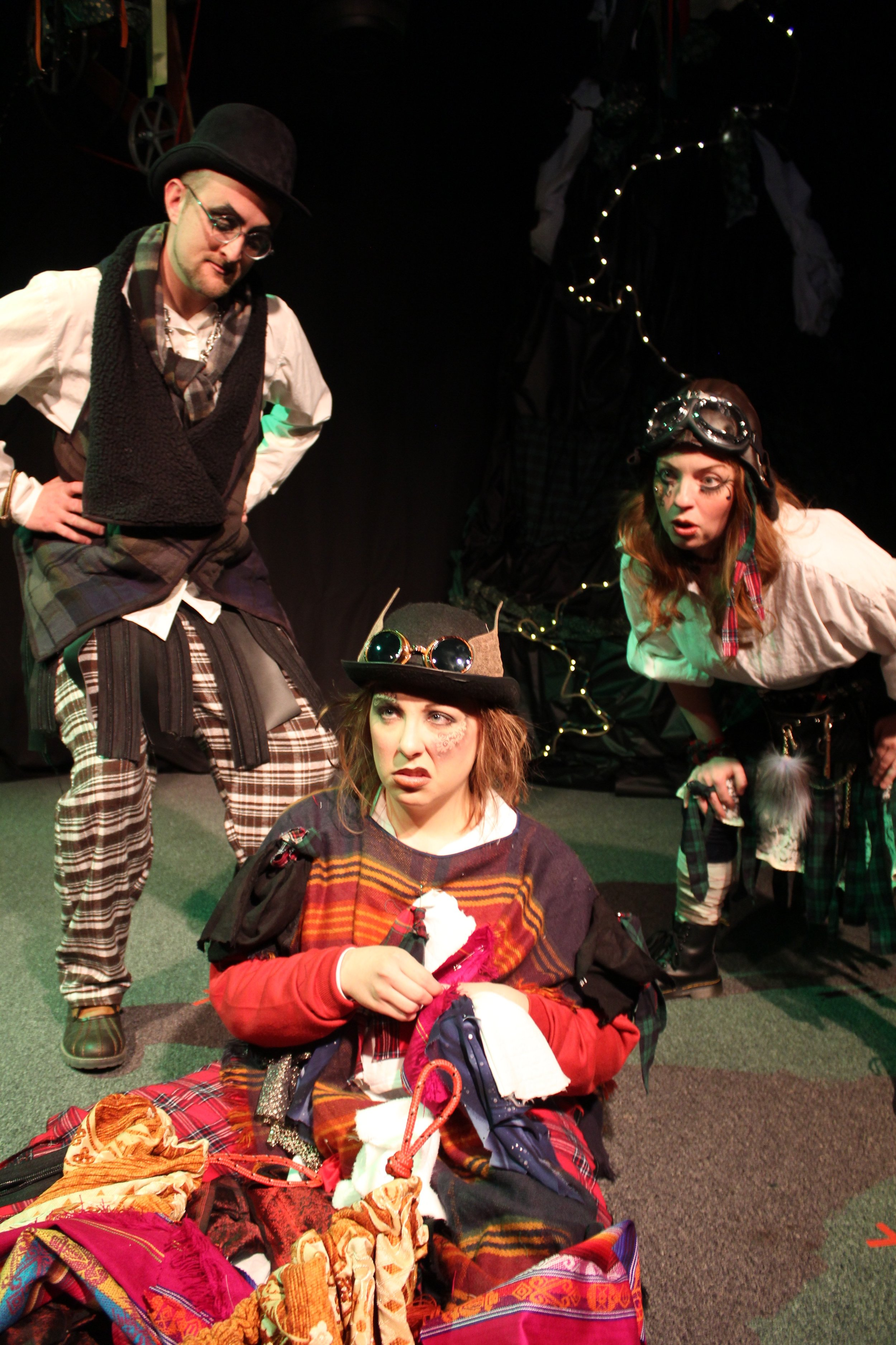 Ryan Barnett, Jessica Hall  and  Karin Carr in  The Lass Who Went Out with the Cry of Dawn