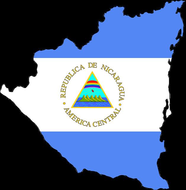 Nicaragua map with flag design