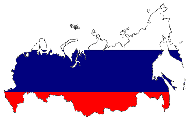 Russian map with flag design
