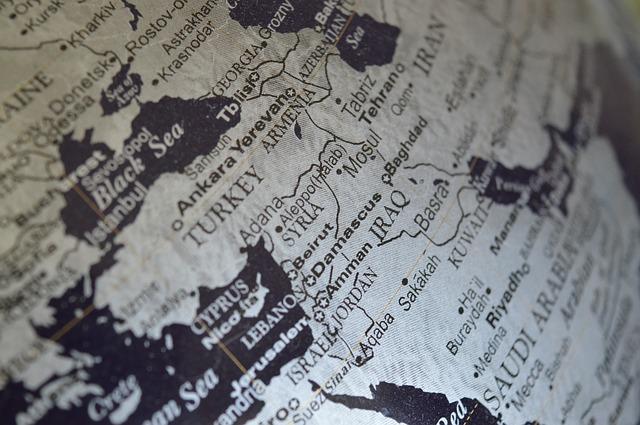 Turkey on the globe