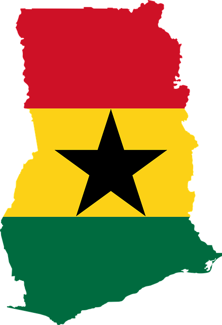 Ghana Map and Flag Design