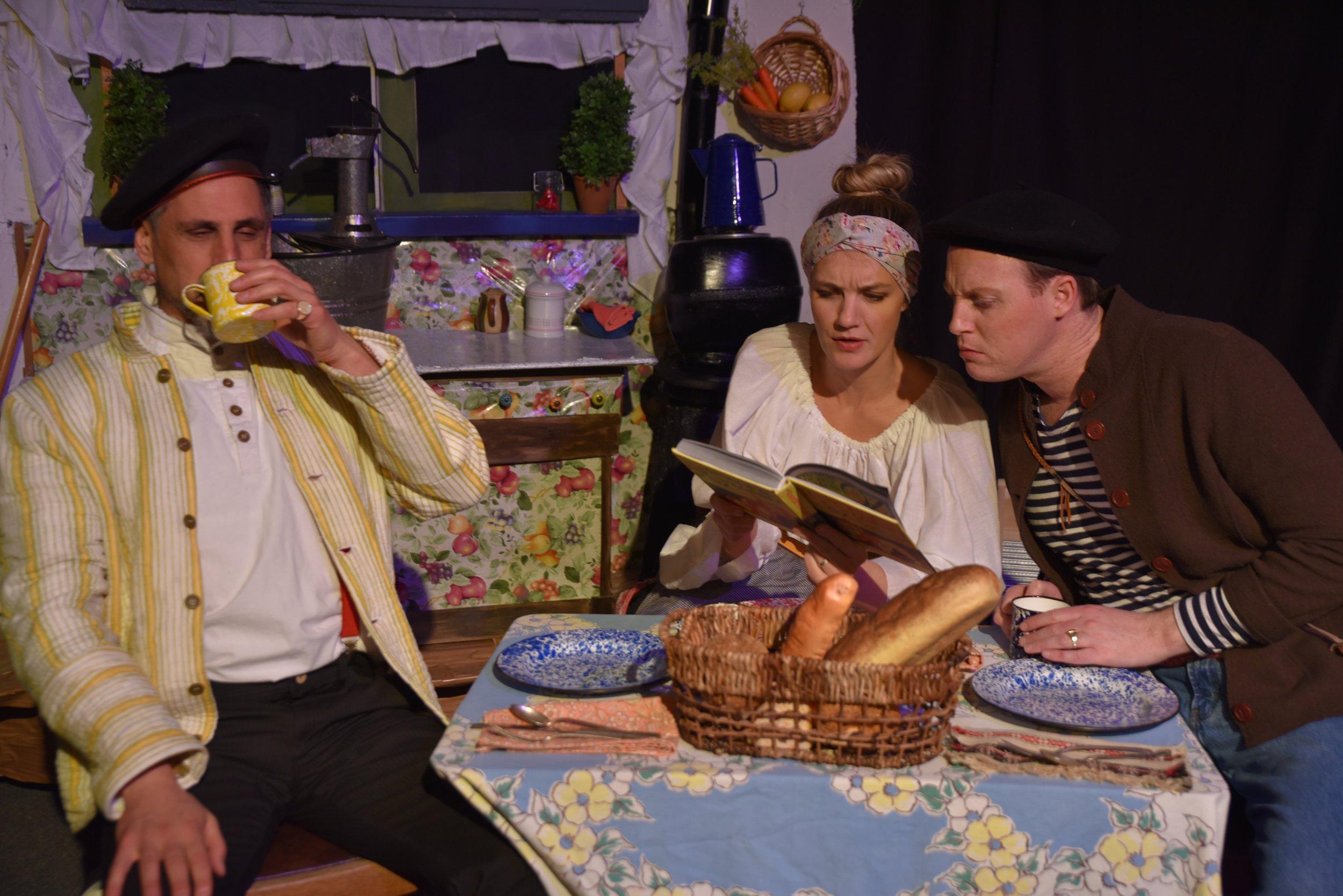Allan Cutler  as   Gorka,  Katie Nedved  as Ama, &  James Crapes  as Aita