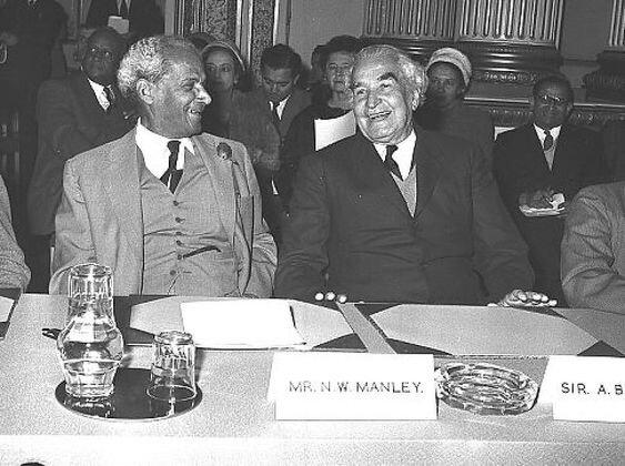 Norman Manley and Sir Alexander Bustamante