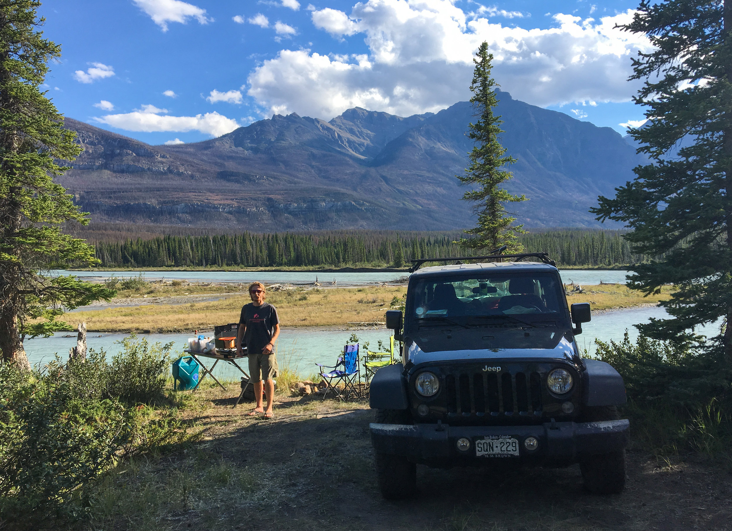 Saskatchewan River camping