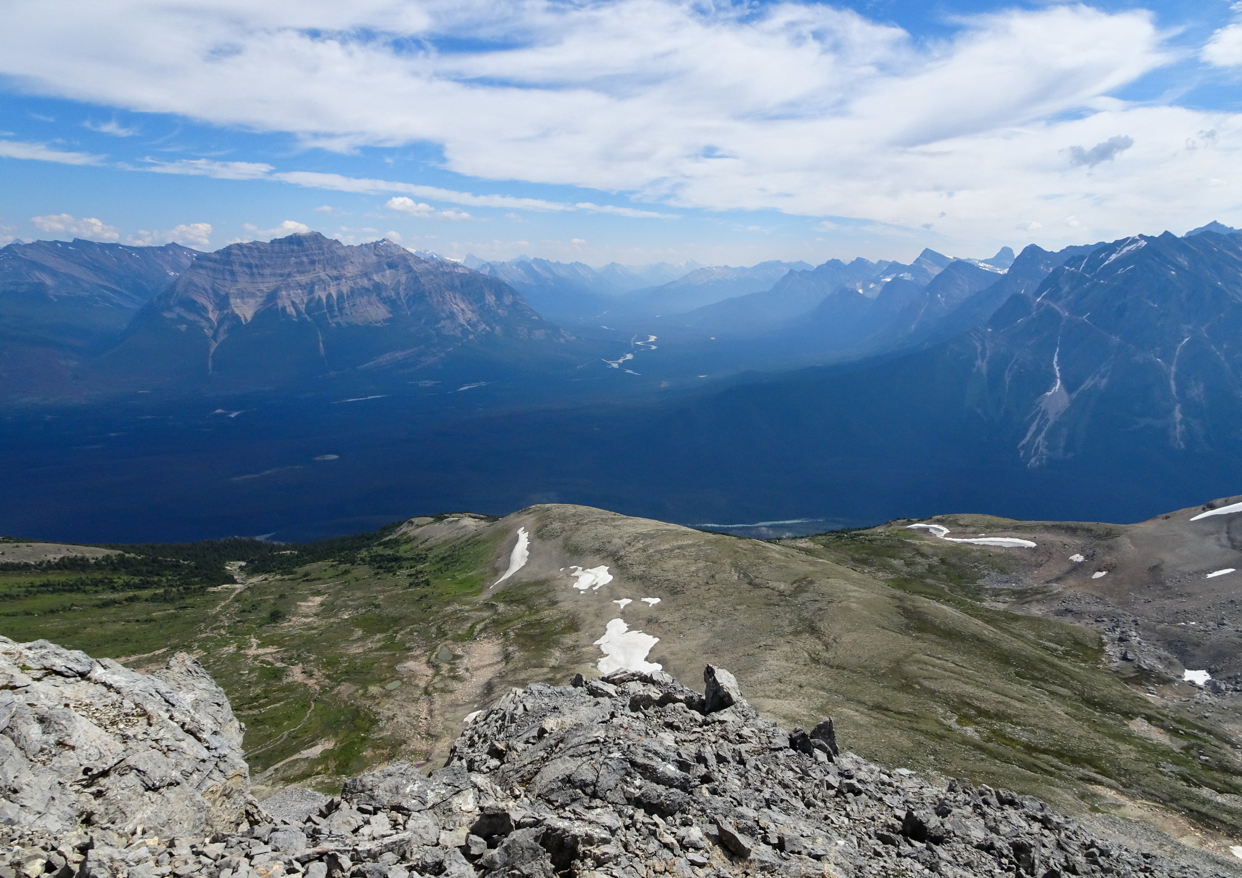 Summit of Edith Cavell Trail
