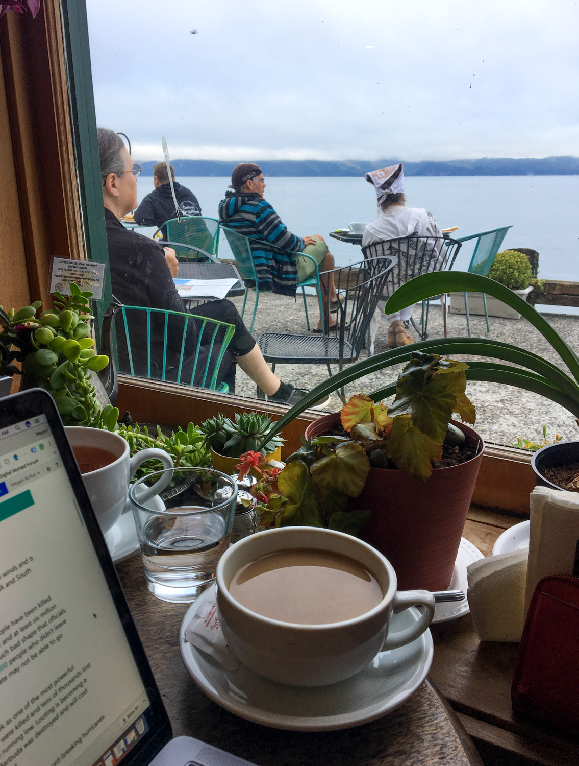 """Our """"Gram-able"""" office - Coffee Girl, Astoria, OR"""