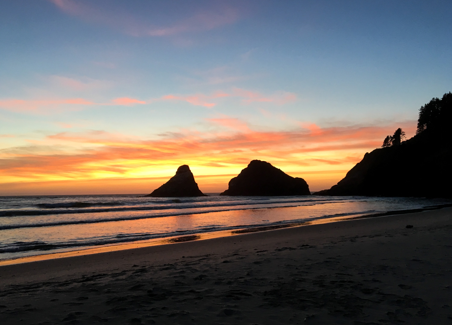 The Gorgeous Sunset from Heceta Head Viewpoint