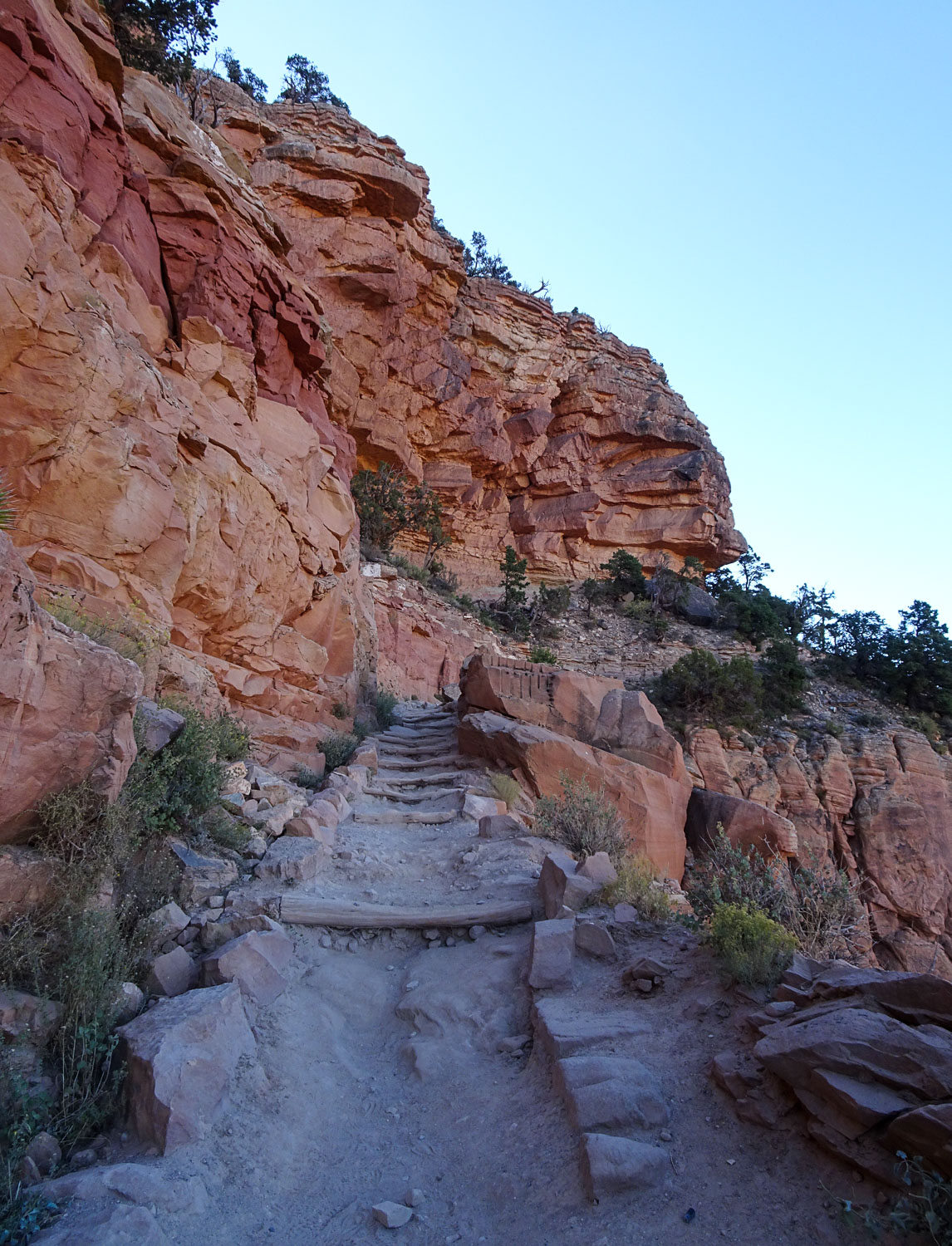 Heading back up the South Kaibab trail to the rim of the canyon