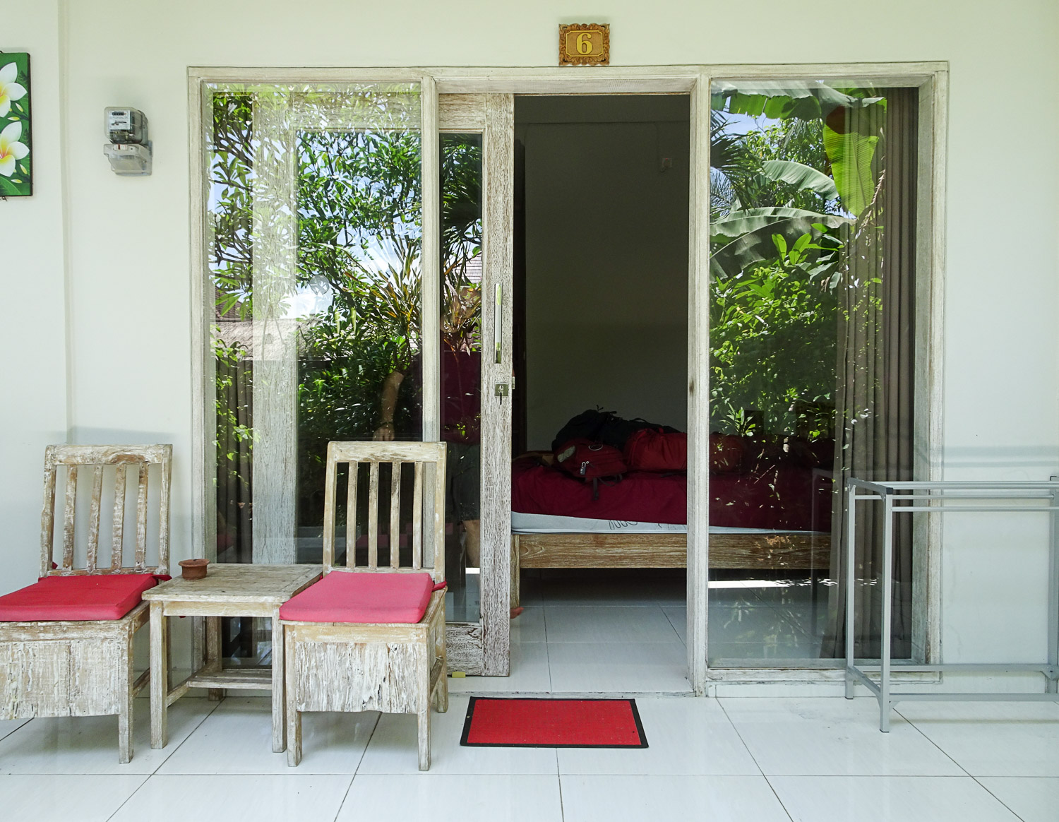 Our room and terrace at Guest House Home 46