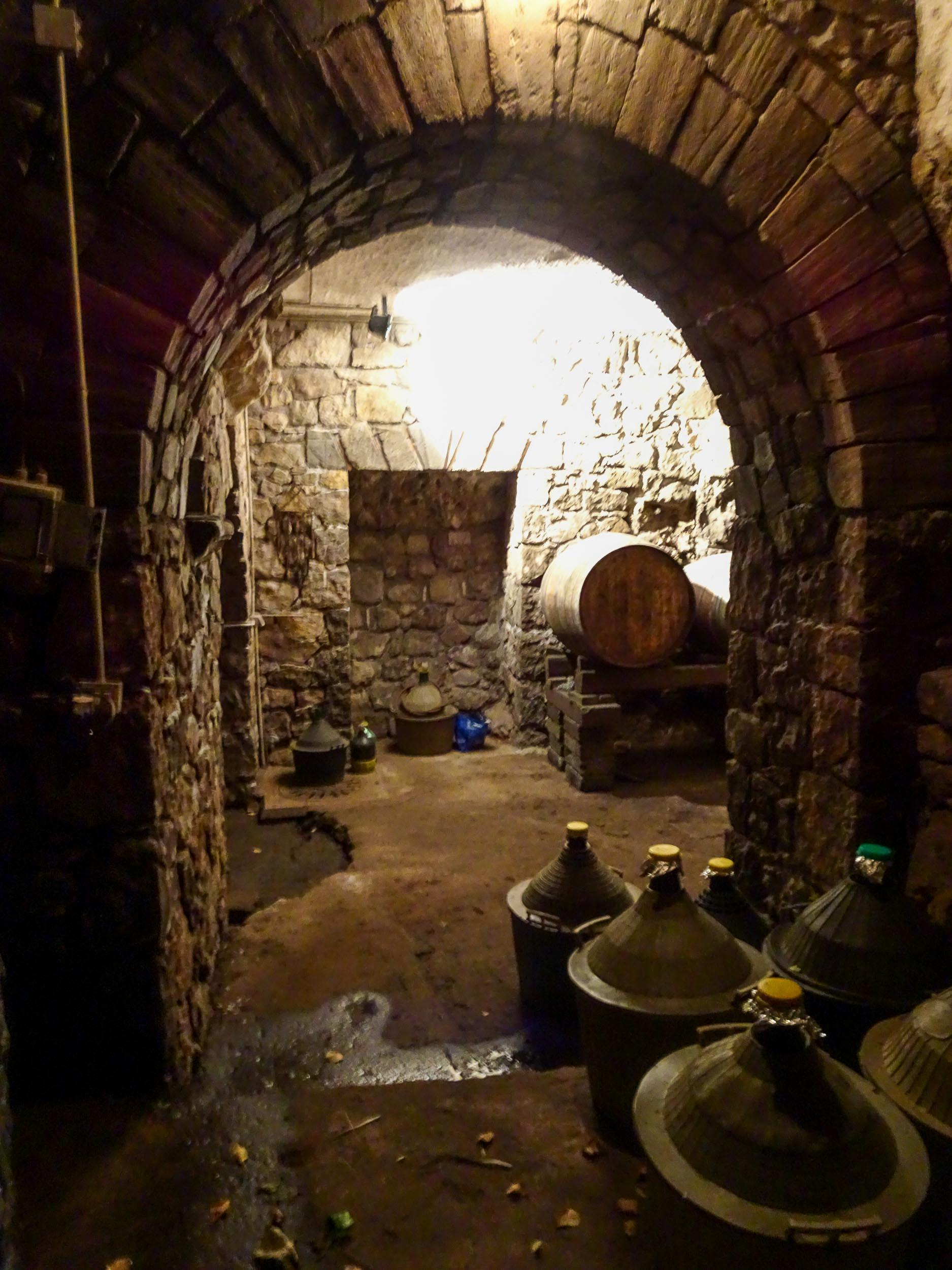 The wine cellar of Torre Ferrano