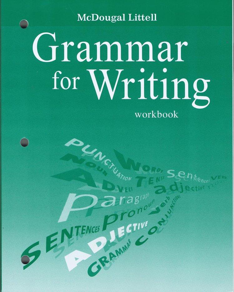 McDougal Littell Literature: Grammar for Writing Workbook and Answer Key  Grade 6~9 — Teacher's Choice