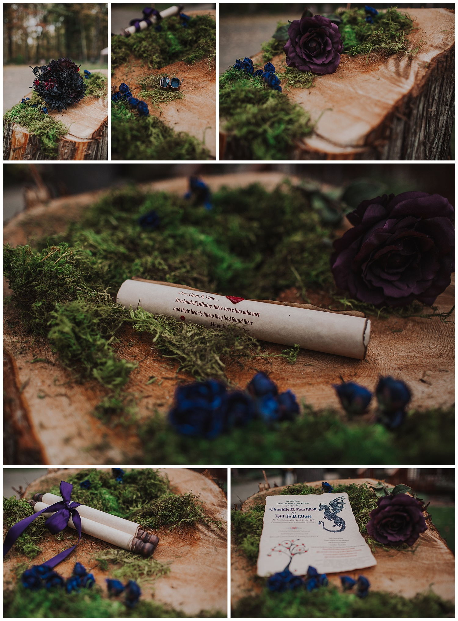 enchanted backyard forest wedding details