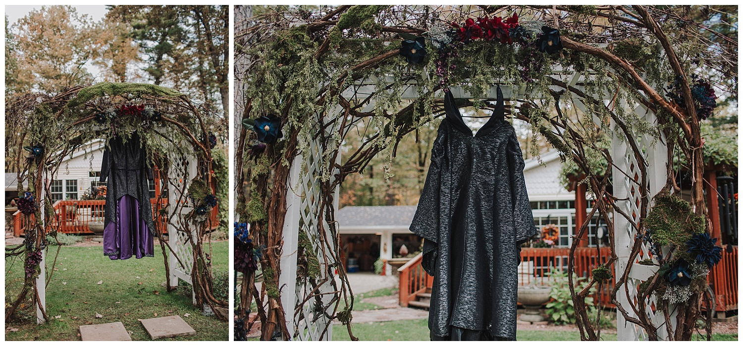 enchanted forest backyard wedding