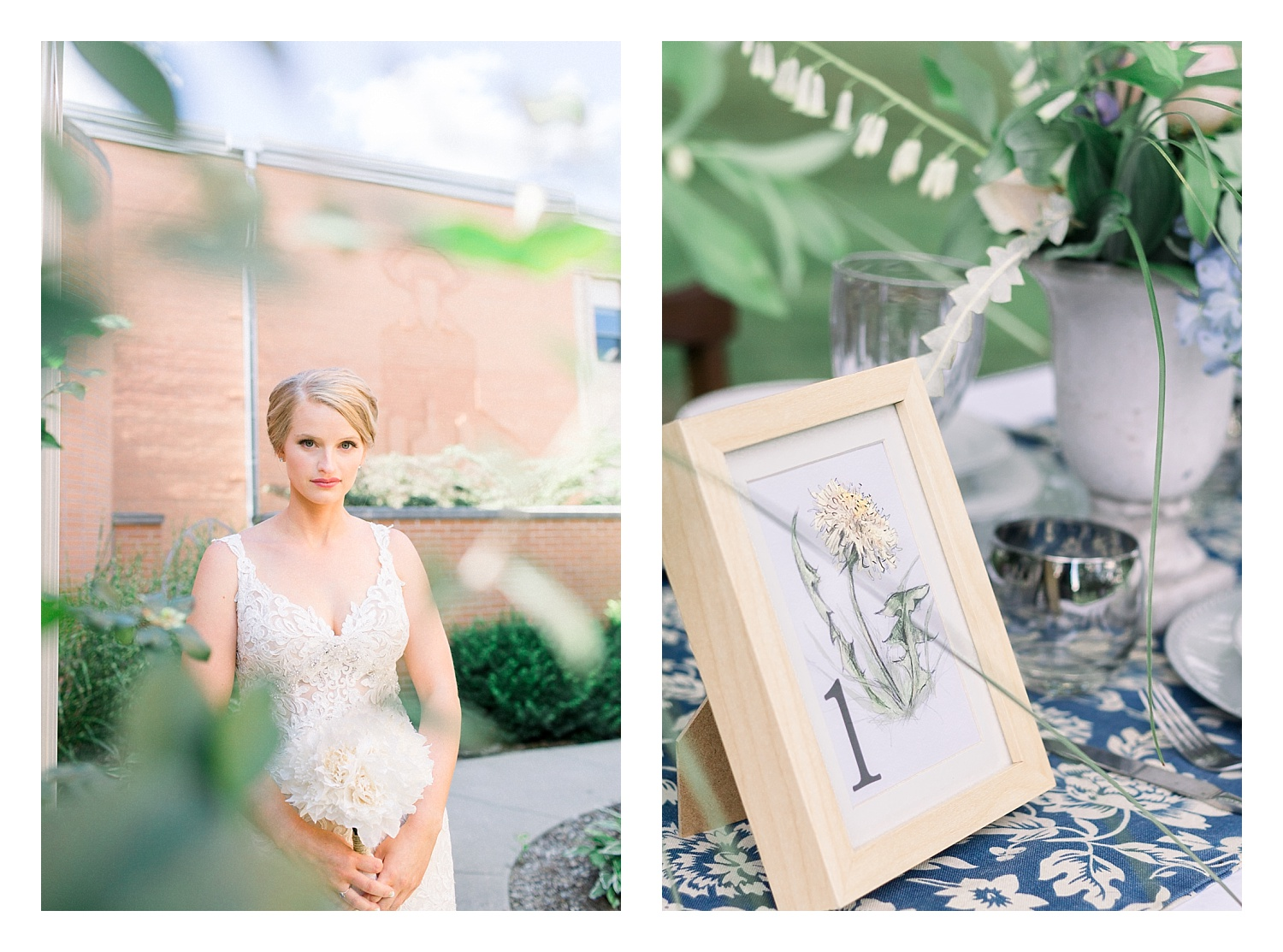 Left, Event planned by Only You Events. Right, table number by Katie Bobber