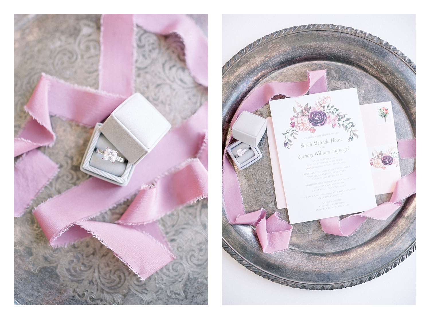 Hand-dyed silk ribbon shown here in rose by Tono + Co