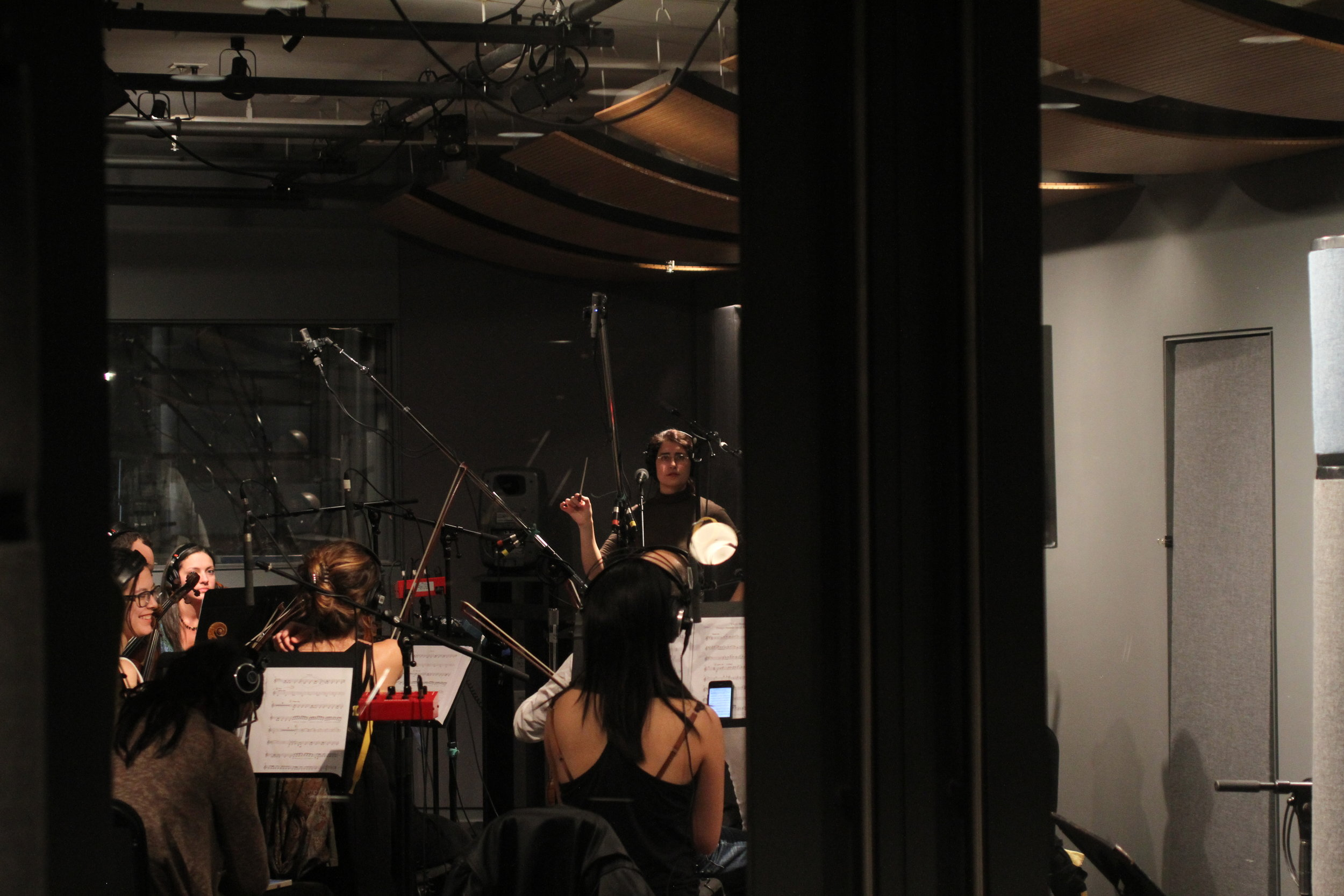 Recording sessions at the James L. Dolan Studio at NYU