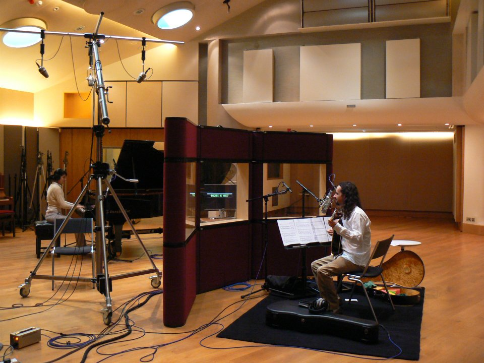 Recording at Mark Knopfler's British Grove Studio