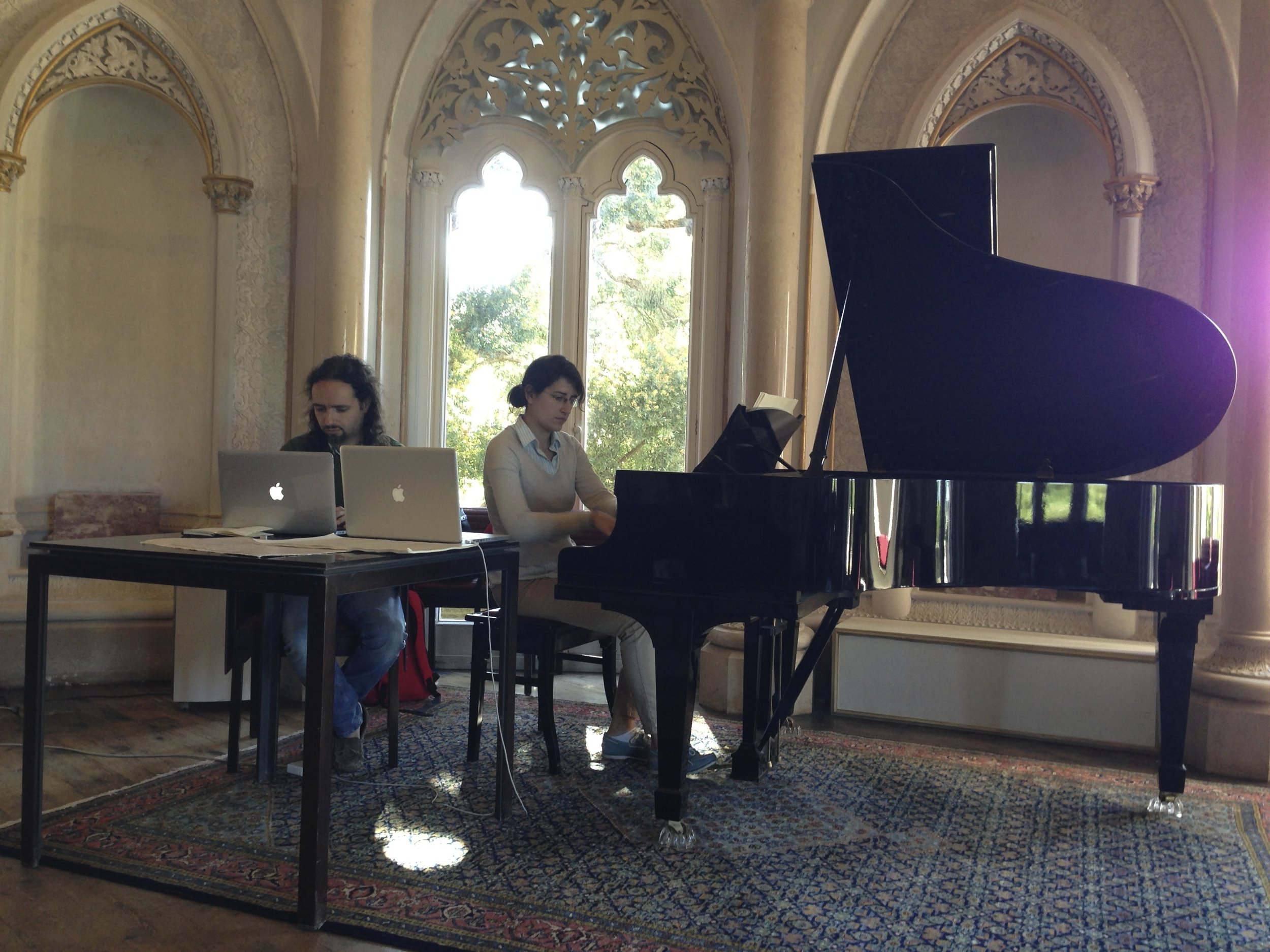 Composing at Monserate Palace in Sintra, Portugal