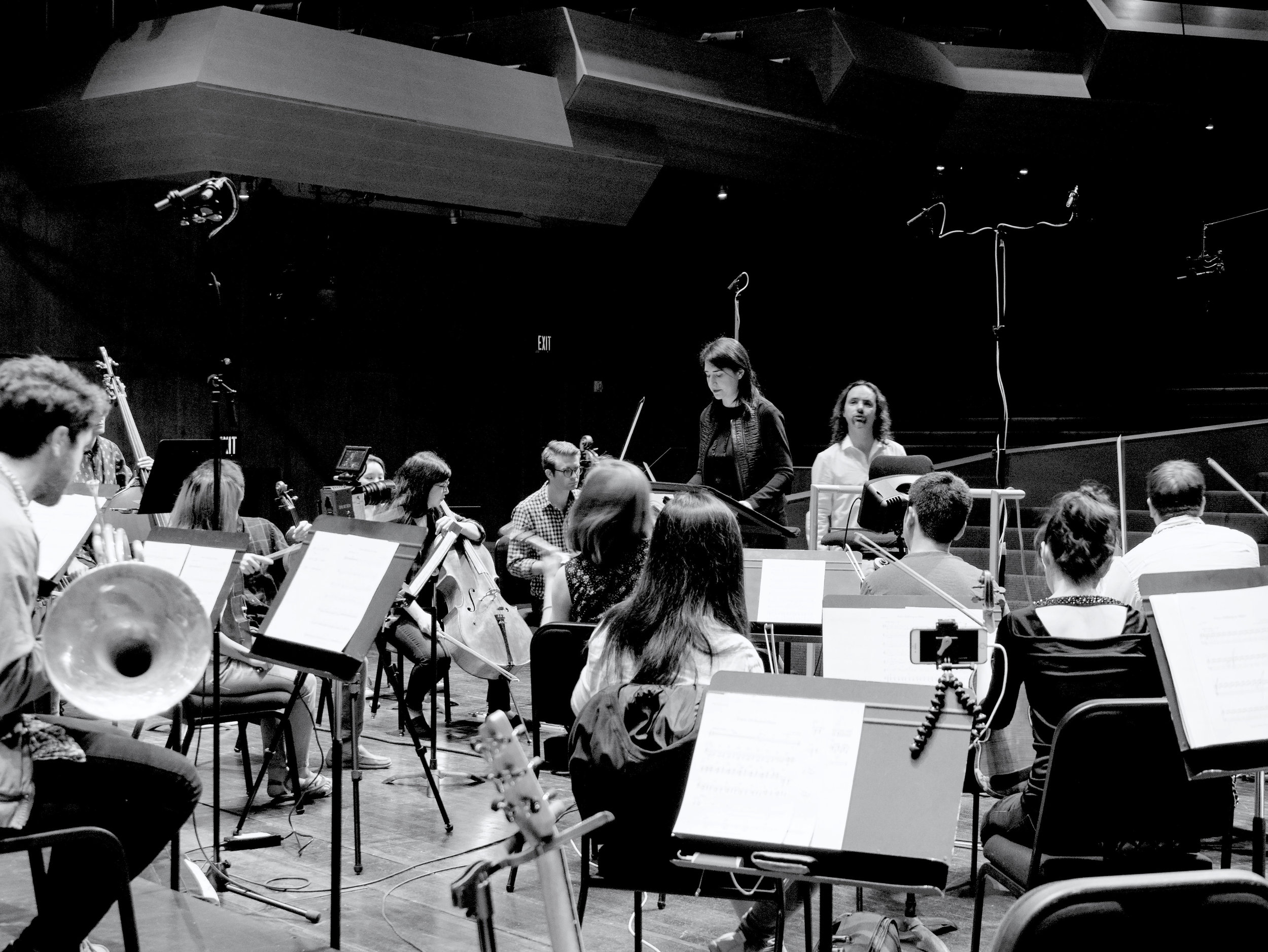 Soundtrack recording session with TON Orchestra for the feature film 'Forte'.