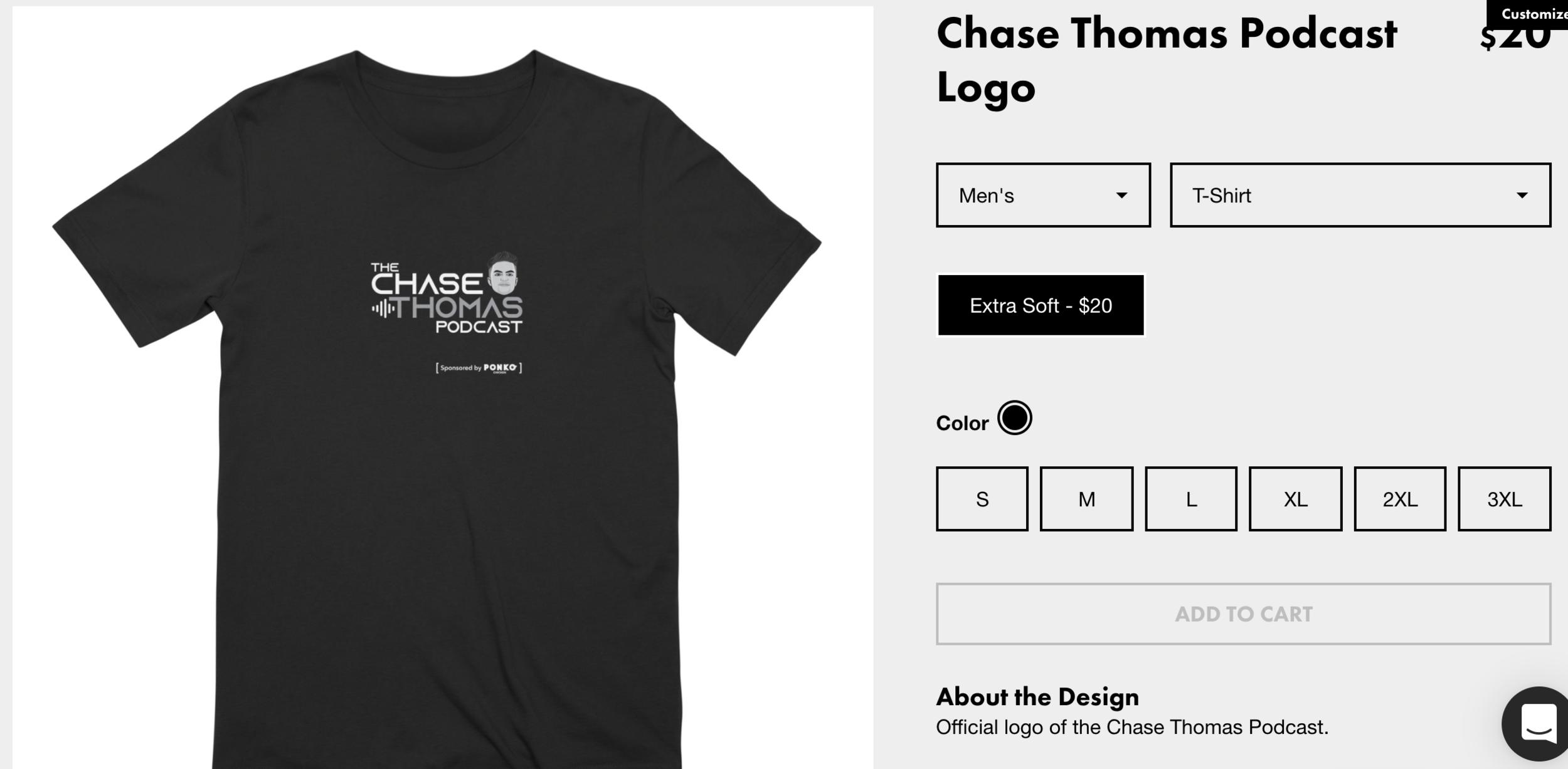 Chase Thomas Podcast Logo   chasethomaspodcast s Artist Shop.png