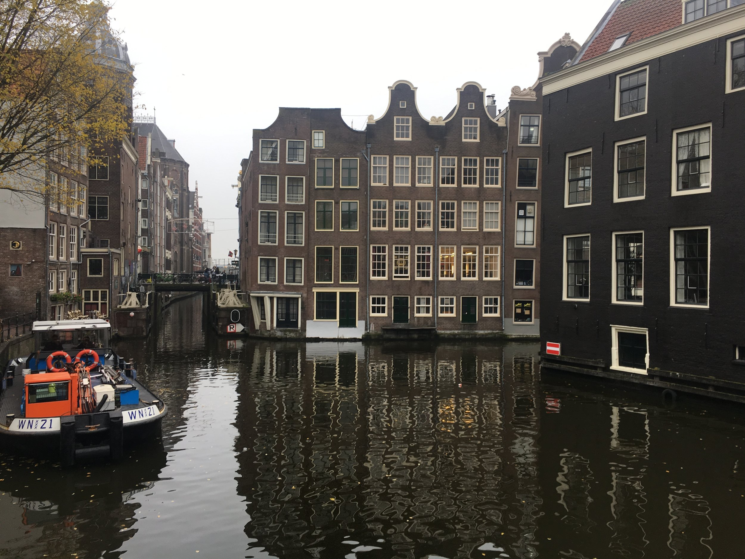 Part of Amsterdam's Red Light District