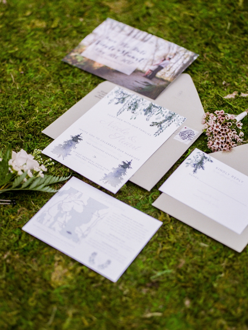 lavender themed wedding invitations