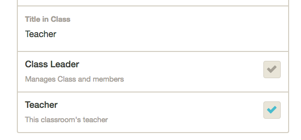 7. Check the Teacher box. That will populate