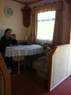 Beau having breakfast with her mum Debbie xx