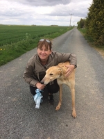 Buster with his new mum...Just setting off to his new life! x