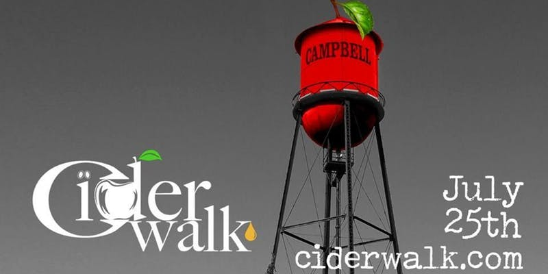 Ciderwalk Downtown Campbell - Explore the unique boutique shops, art studios, and great restaurants within the community, all while sipping on great ciders and enjoying the social enthusiasm of shopkeepers and cider lovers alike!The Ciderwalk was created beyond the idea of sampling great ciders, but rather to provide the outlet for our community to come together to explore the neighborhoods and small businesses, which help keep the Bay Area great.Early Bird Tickets - $35Day of Tickets (if event not sold out) - $40Ticket includes cider samples, custom glass, and passport.Check-in Location:Spread Deli & Bottles193 E Campbell Ave.Campbell, CA 95008Check-in Time:5:30pm to 8:30pmTASTING LOCATIONS:Blue Line PizzaBoiler MakerBombshell BoutiqueBrown Chicke Brown CowFlights Restaurant CampbellFrost Cupcake FactoryGeoffrey's DiamondsNaurepedic Organic Mattress GalleryPetit Petal Co. Pilates VREDEMPTIONRocket FizzSnake and ButterflySteepersStripes BoutiqueSushi Confidential CampbellTessora's Barra di VinoCeltic ShopeeTherapy Stores