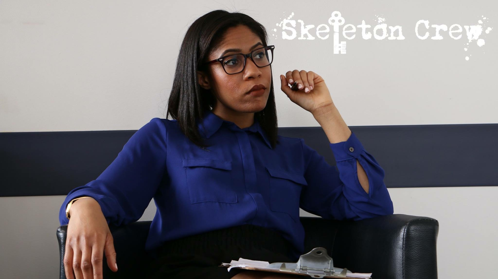 Marchelle reprising her role of Dr. Mestor in the web series  Skeleton Crew .