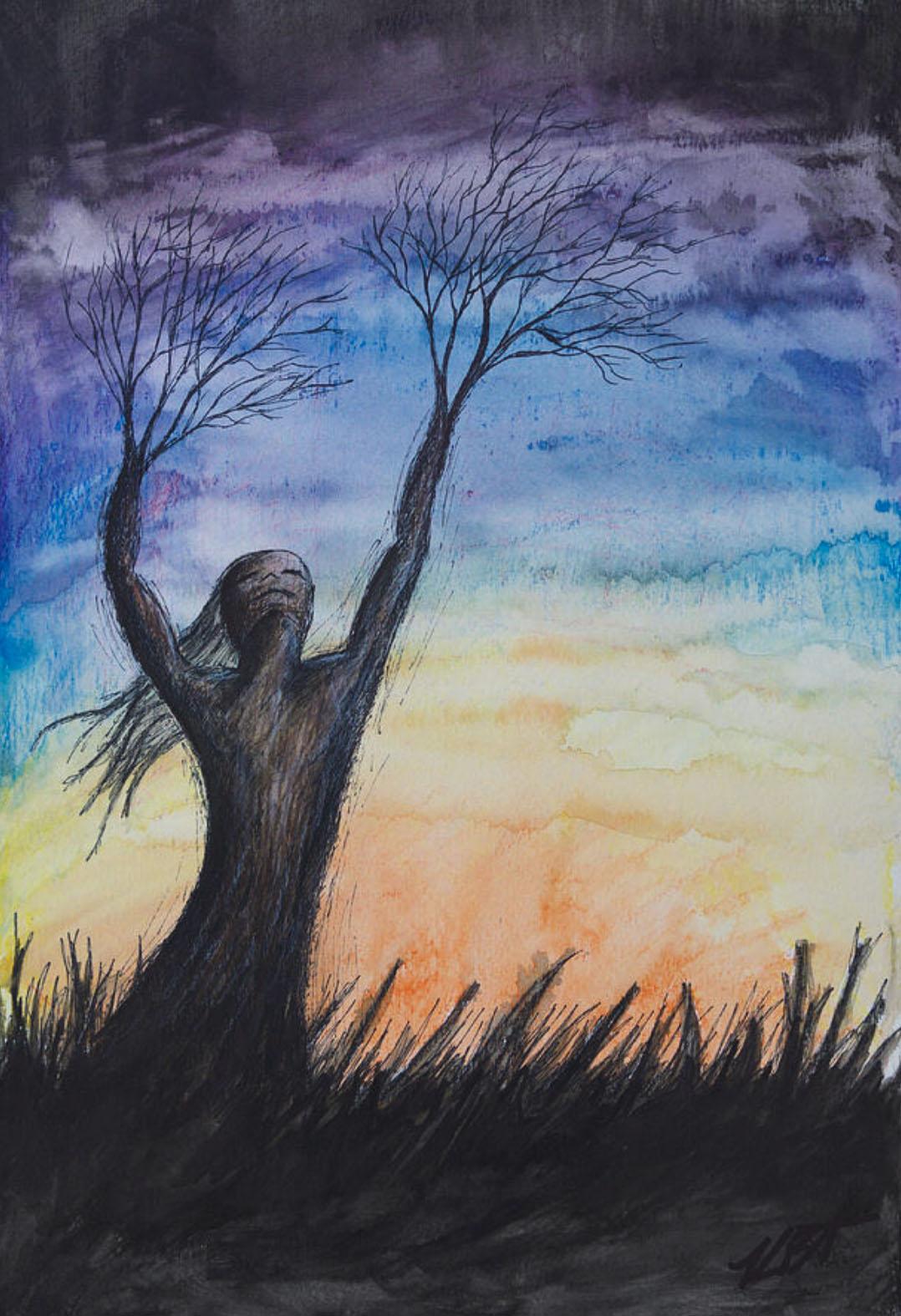 KrystaBernhardt_Zephyr_tree_person_sunset_watercolor_ink.jpg