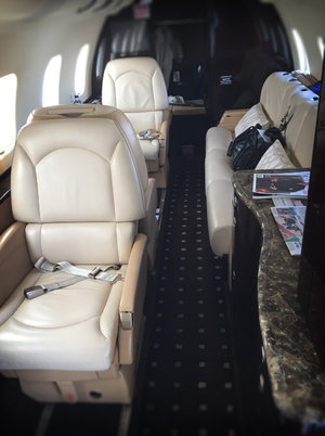 Cushy seats in a Lear 60XR I used to fly. The XR has a little different layout than the classic 60, different avionics and upgraded brakes