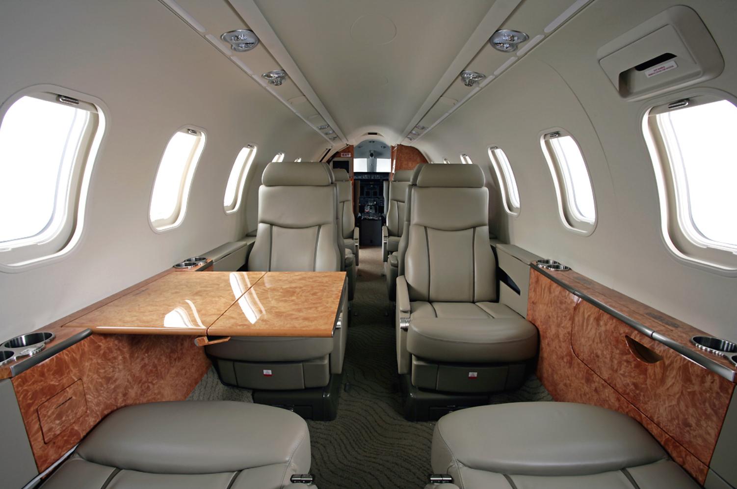 Lear 45 interior