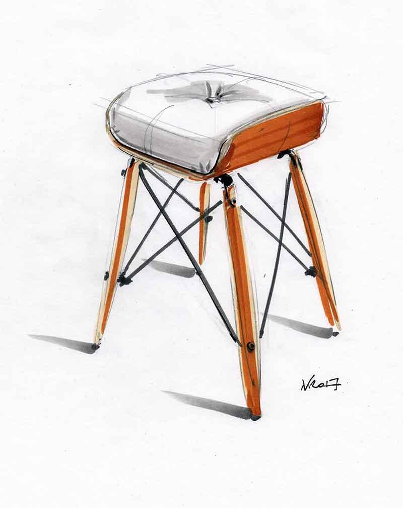 """""""Eames-Vjeko Stool"""""""