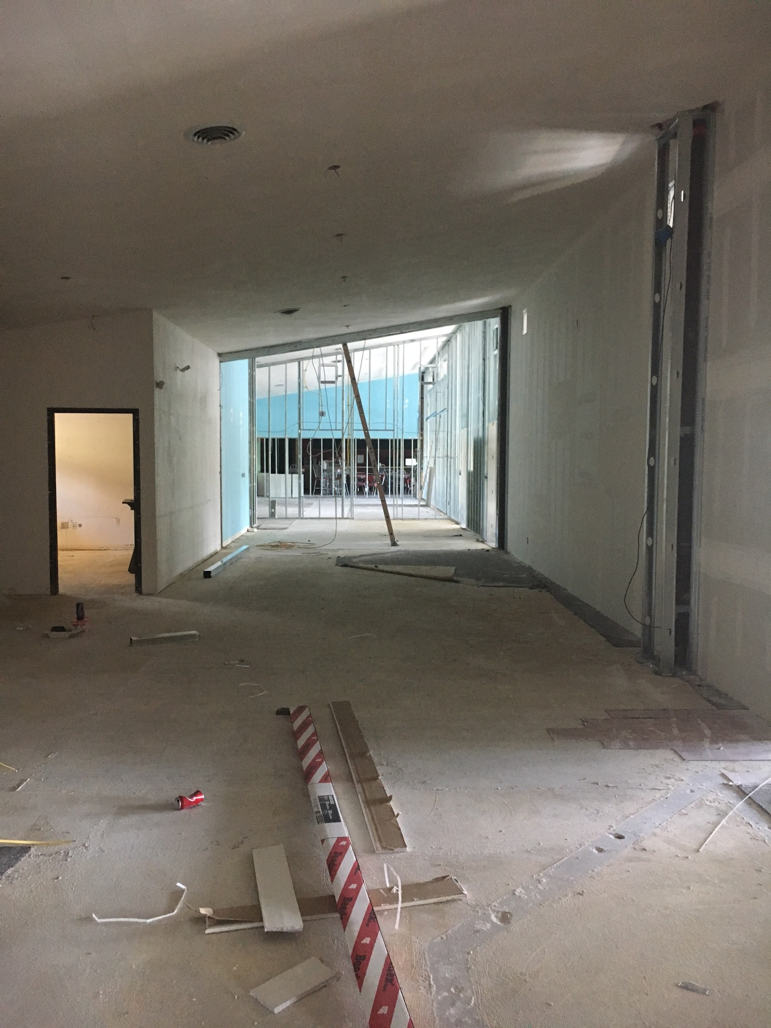 Looking down part of the lobby from where front desk will be...look at that space!!
