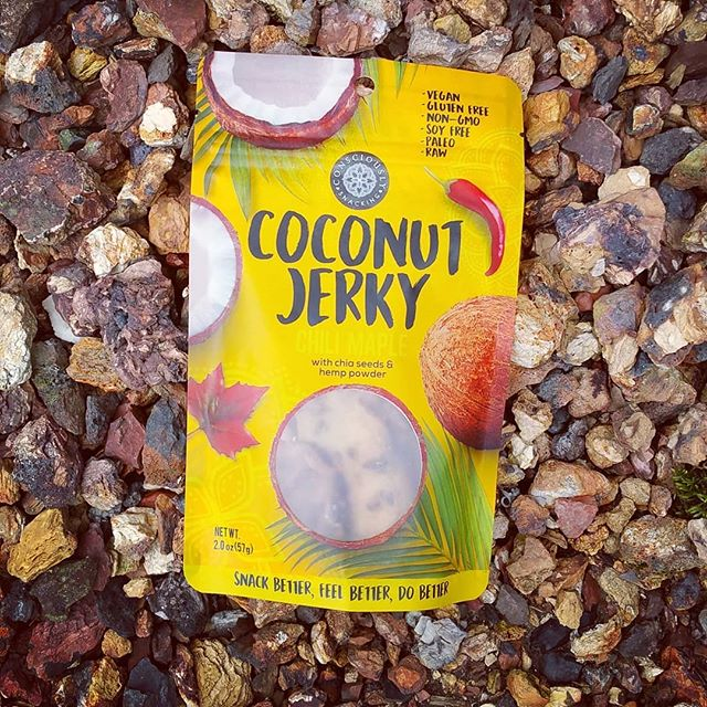Add some color into your life with our bright yellow chili maple #cocojerky.  What a wonderful mix or savory & sweet.  Get your now via our webshop or through one of our participating retailers. 🌴😋🌱🔥 #guiltfree #crueltyfree #paleo #soyfree #nongmo #additivefree #organic #glutenfree #snackfood #futureofsnacking #vegan #rawvegan #raw #coconut #jerky #snacking #vegans #coconutjerky #vegansofig #rawvegansofig #lovecoconut #coconutlove #plantbased #veganlife #vegansnacks #whatveganseat #color #outdoors #socal