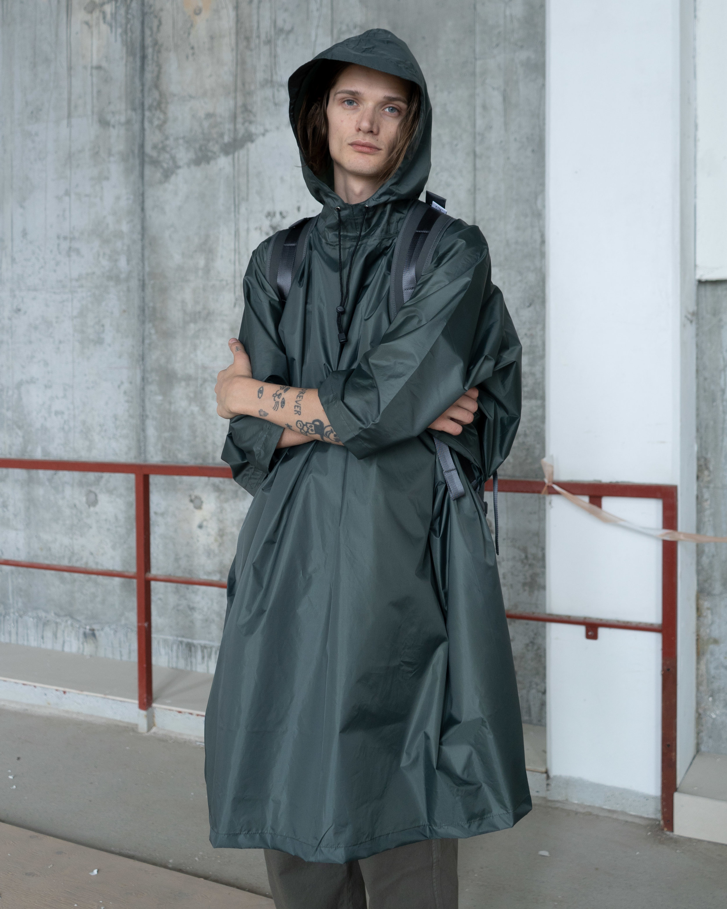 Carhartt WIP - Rain Poncho   Carhartt WIP - Lawton Pant   F/CE - No Seam Zip Lock Bag
